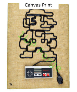 Super Mario Canvas Print - Nintendo Art Print - Nintendo NES Video Game Wall Art