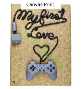 PlayStation Canvas Print - My First Love Art Print - PS1 Video Game Wall Art