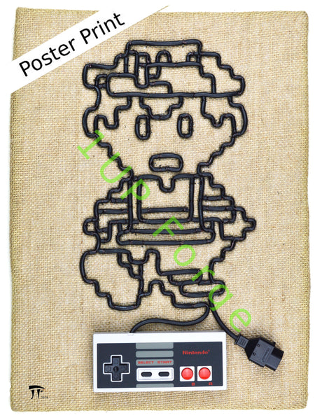 NES Nintendo Poster Print - Ness from Earthbound - Video Game Art