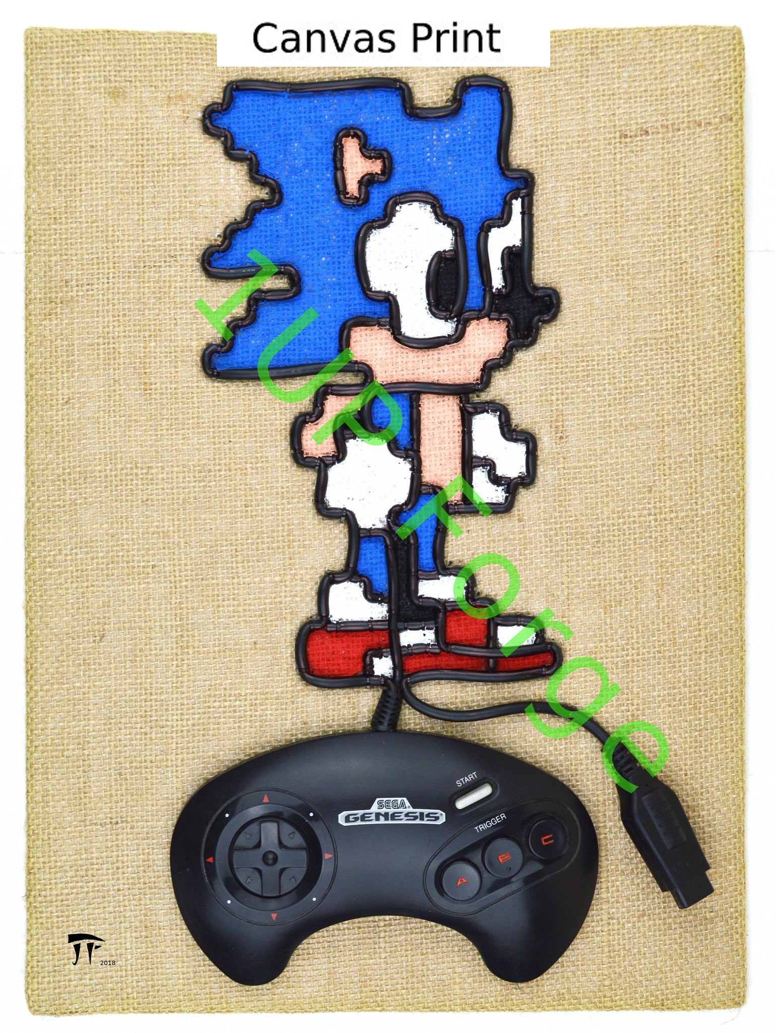 Sega Genesis Canvas Art - Sonic The Hedgehog  Print In Color - Video Game Art
