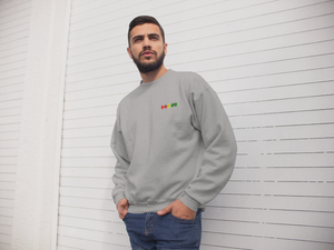 GGC Diamond Logo Grey Golf  jumper