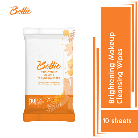 Bellic Brightening Makeup Cleansing Wipes 12s