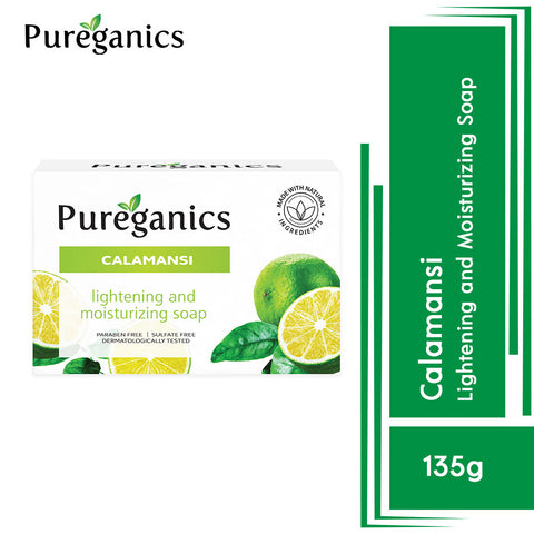 Pureganics Calamansi- Lightening And Moisturizing Soap 135g