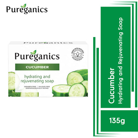 Pureganics Cucumber- Hydrating And Rejuvenating Soap 135g
