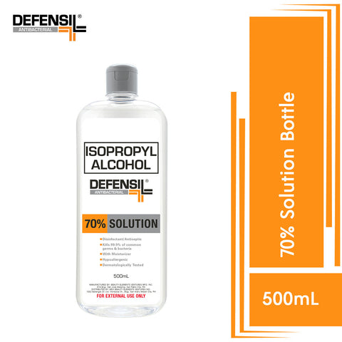 Defensil Antibacterial Isopropyl Alcohol 70% (Bottle) 500ml