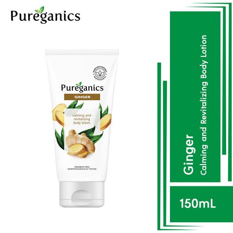 Pureganics Ginger- Calming And Revitalizing Body Lotion 150g