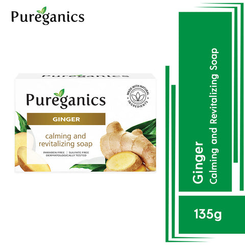 Pureganics Ginger- Calming And Revitalizing Soap 135g