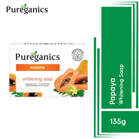 Pureganics Papaya- Whitening Soap 135g