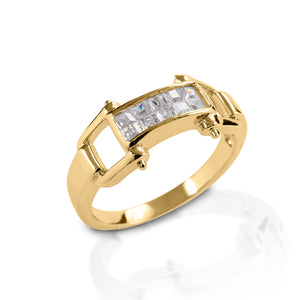 Kelly Herd Wide Bit Ring - 14k Gold