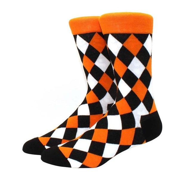 Black, Orange and White Pattern
