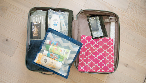 grey gray plastic waterproof organizer bags travel suitcase diaper bag