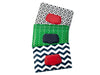 wet wipes dispenser holder case black geometric green herringbone navy chevron