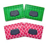 wet wipes dispenser holder case green herringbone pink lattice