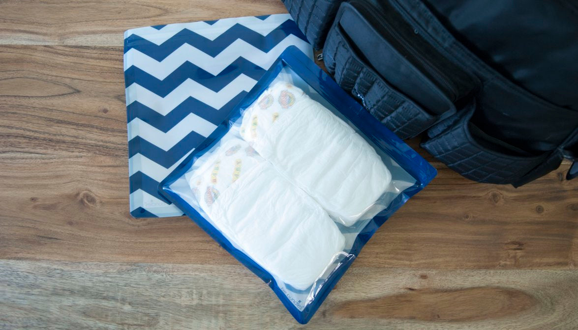 organizer bag medium chevron navy