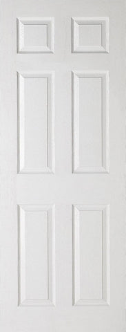 White 6 Panel Fire Door