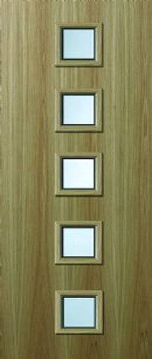 Glazed Oak Veneer Fire Door