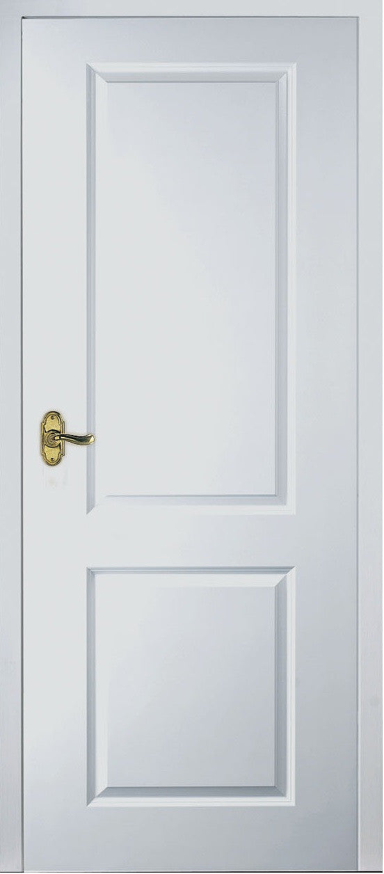 White 2 Panel Square Top Fire Door Baker Finch Interiors