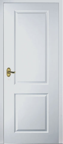 White 2 Panel Square Top Fire Door