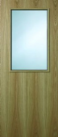 8g Oak Veneer FD60 Fire Door