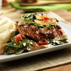 Sirloin Steak with Baby Spinach Recipe