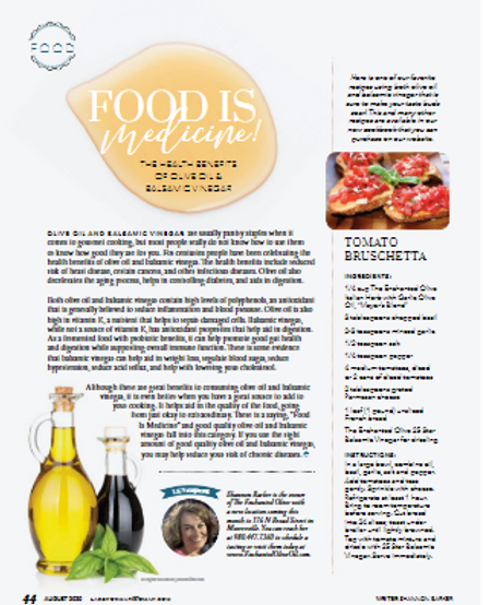 Latest article in Lake Norman Woman Magazine - August 2020