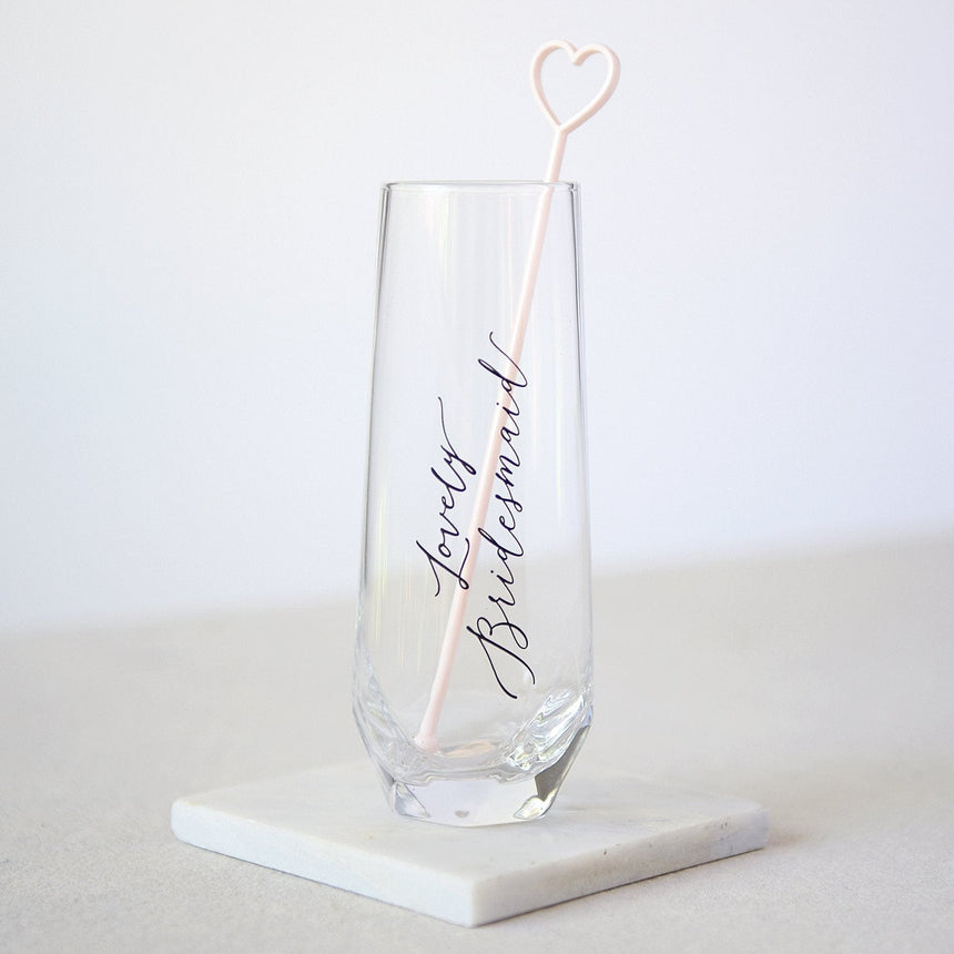 34943 'Bridesmaid' Glass with Pick