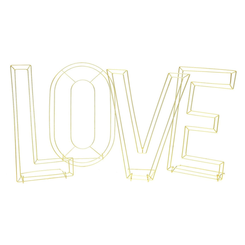 34961 Wire 'Love' Decor