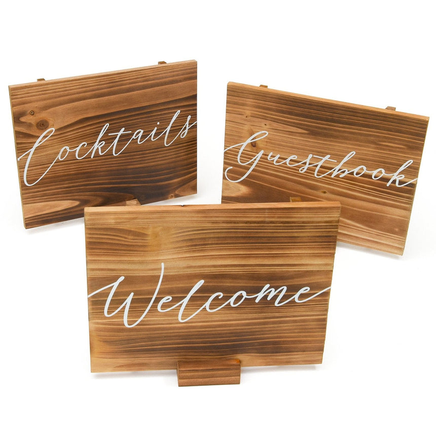35000 Wood Sign Set - 3 Count