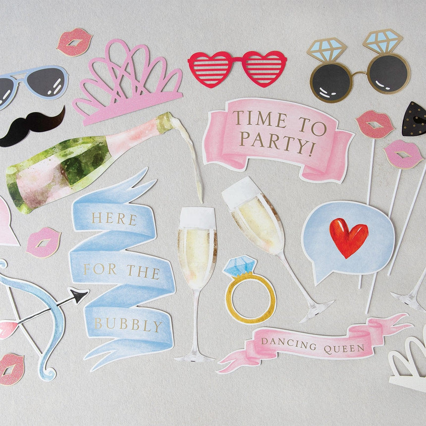 35014 Wedding Photo Booth Prop Set - 56 Count