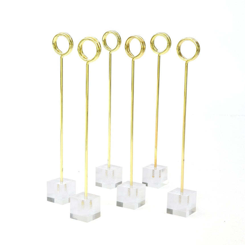 36768 Clear Wedding Table Number Holders - 12 Count