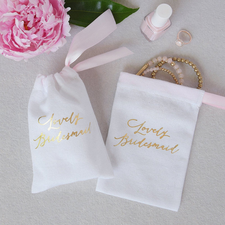 37430 Bridesmaid Favor Bags - 5 Count