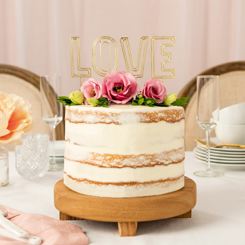 37432 Style Me Pretty Gold Love Wedding Cake Topper