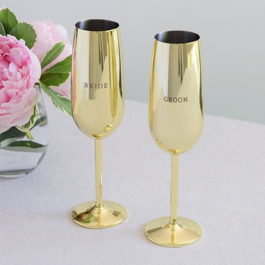 38169 Gold Toasting Flutes - 2 Count