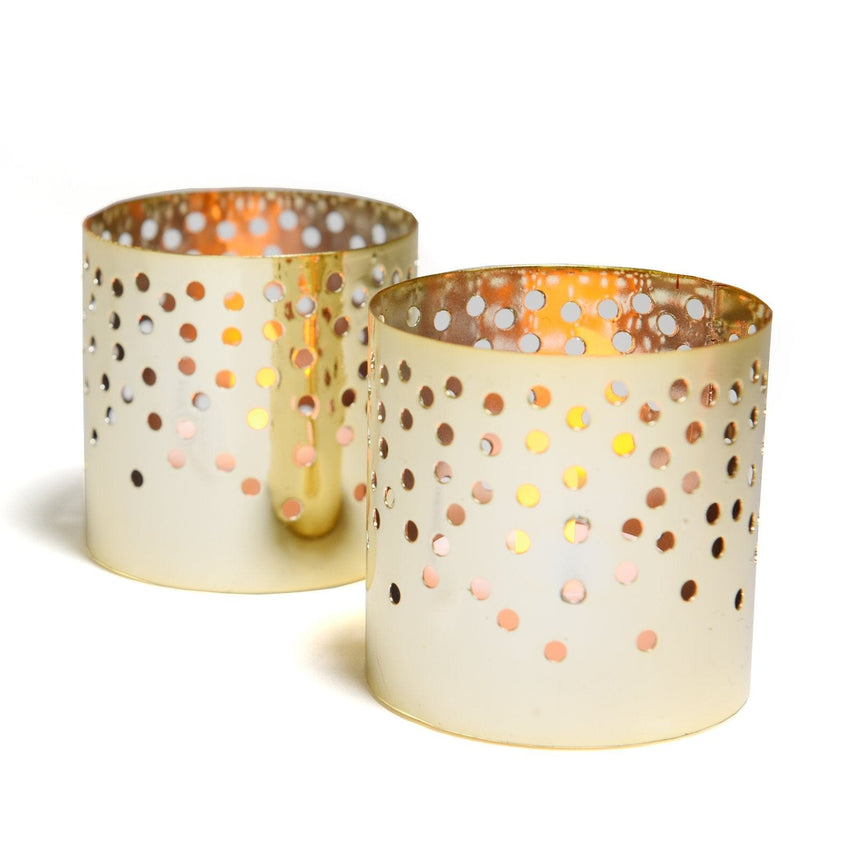 39721 Gold Metal Tealight Candle Holder - 12 Count