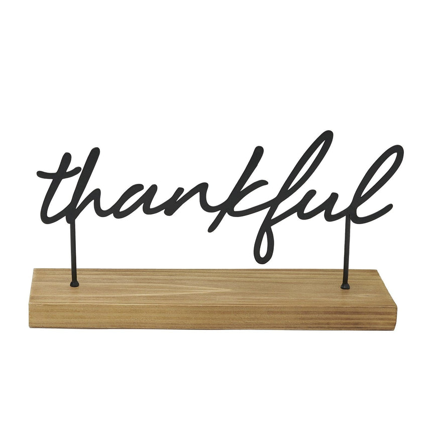 42081 Style Me Pretty Thankful Tabletop Sign