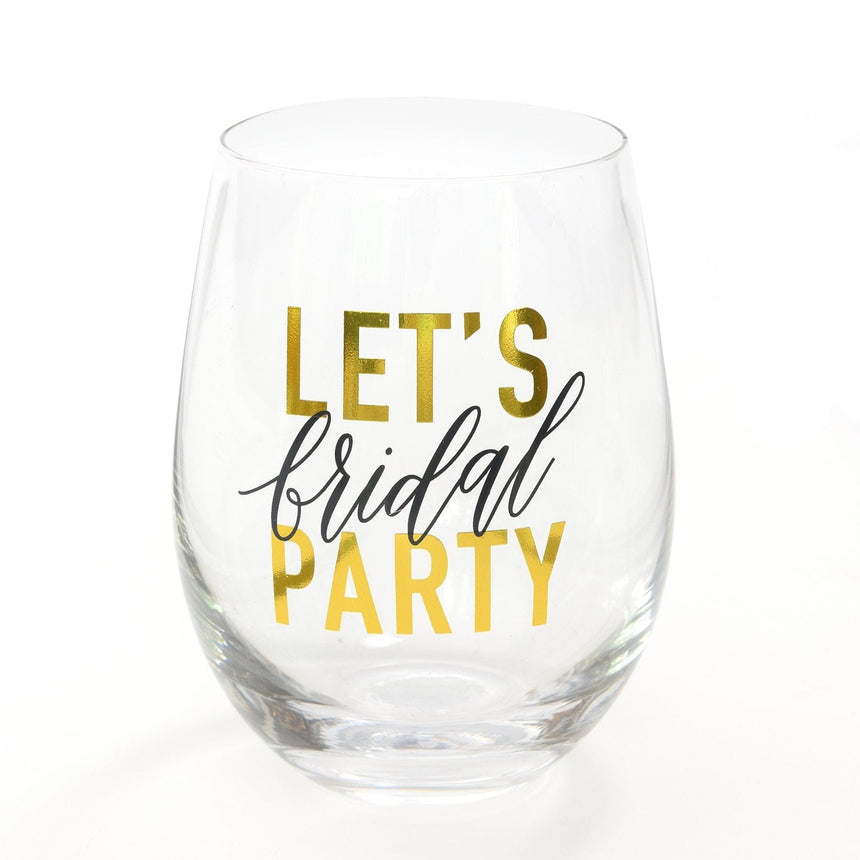 42327 Bridal Party Stemless Wine Glass