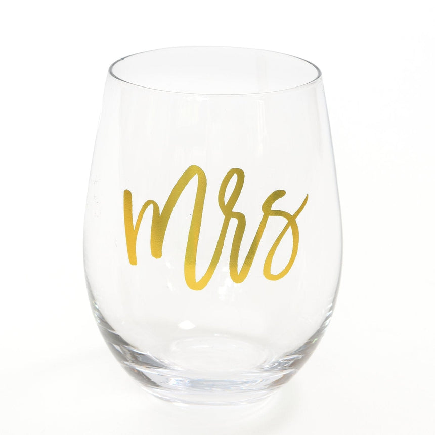42329 Mrs Stemless Wine Glass