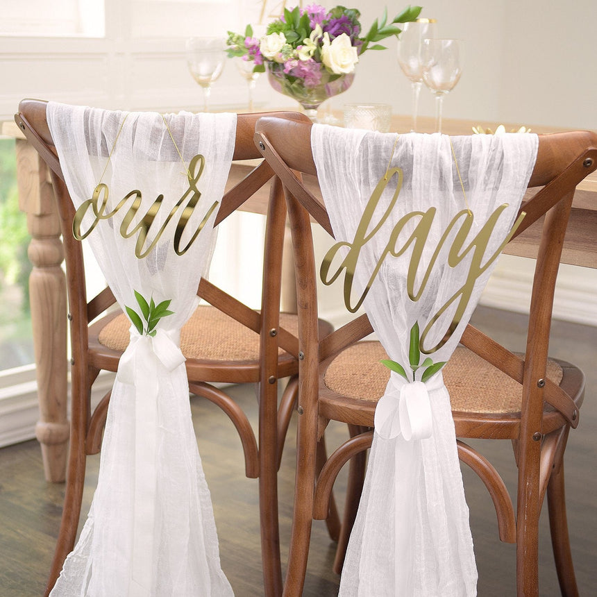 44257 Our Day Gold Chair Signs - 2CT