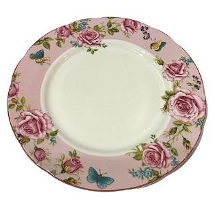 "Le Château Frontenac's Rosemantique Collection - 8"" Plate - Pink"