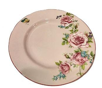 "Le Château Frontenac's Rosemantique Collection - 6.5"" Plate - Pink"