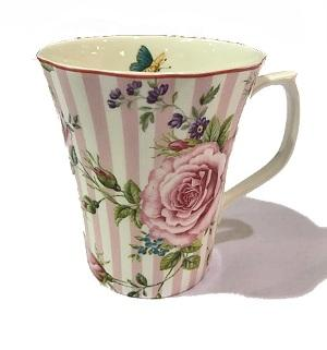 Rosemantique - Tea / Coffee Mug - Pink