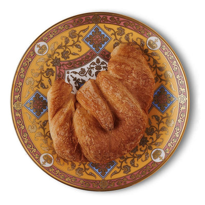 "Library Collection 8"" plate with croissant"