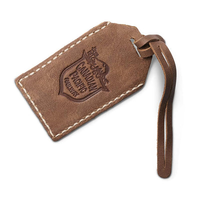 Side view of Canadian Pacific luggage tag