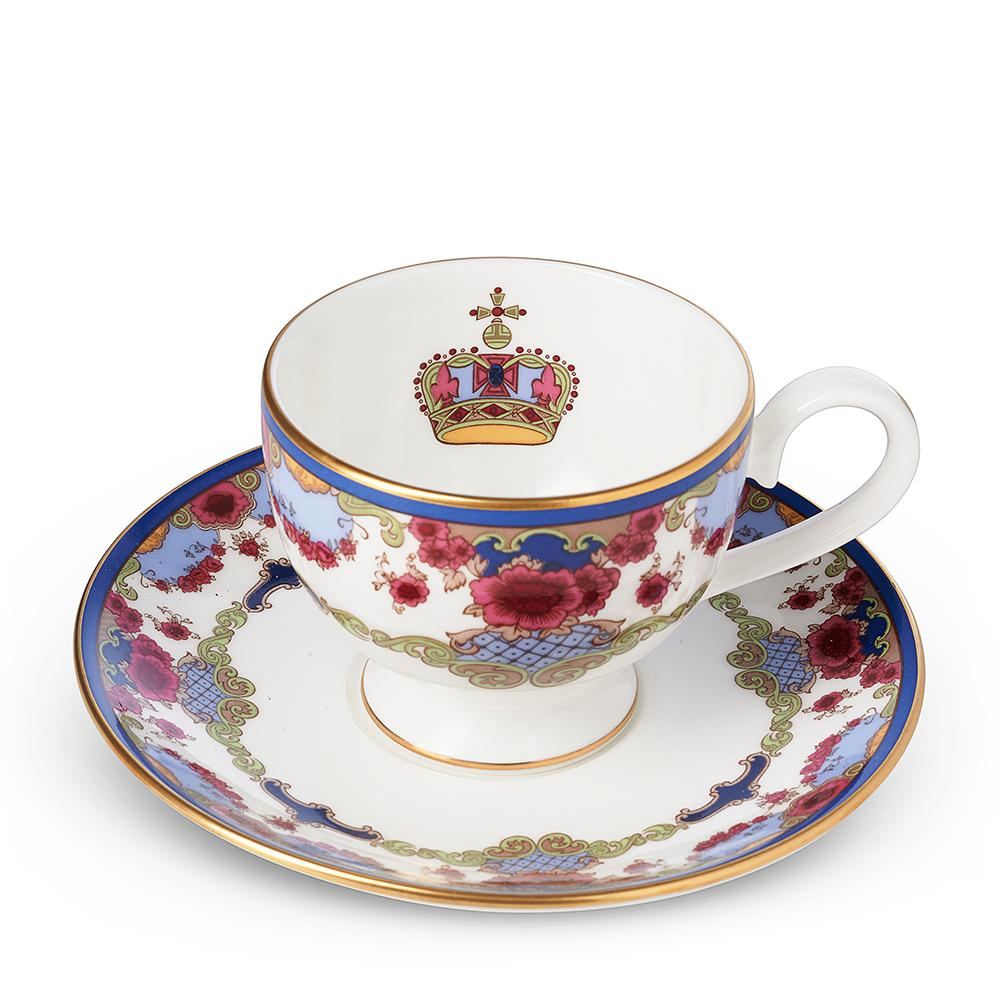 Empress Royal China Espresso Cup & Saucer Interior Image of Logo in Cup