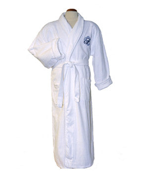 Platinum Velour Robe - White