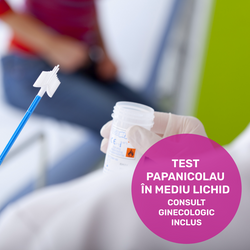 Pap test in liquid environment and gynecological consultation included