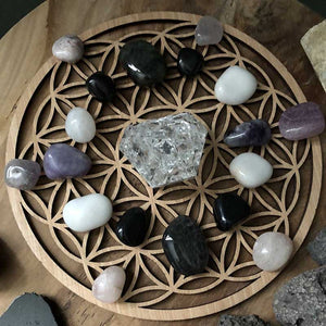 Rustic Wood Sign Wall Art Flower Of Life Wooden Coaster