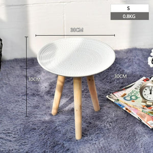 Creative Round Nordic Wood Side Table