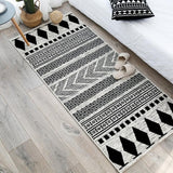 Moroccan Area Rugs Nordic Living Room Carpets Soft Flannel Non-Slip Kitchen Door Mat