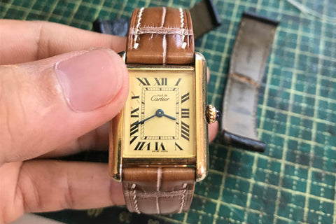 cleaning a leather watch band